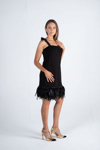1-01207 Feathers dress - Ruth Tate