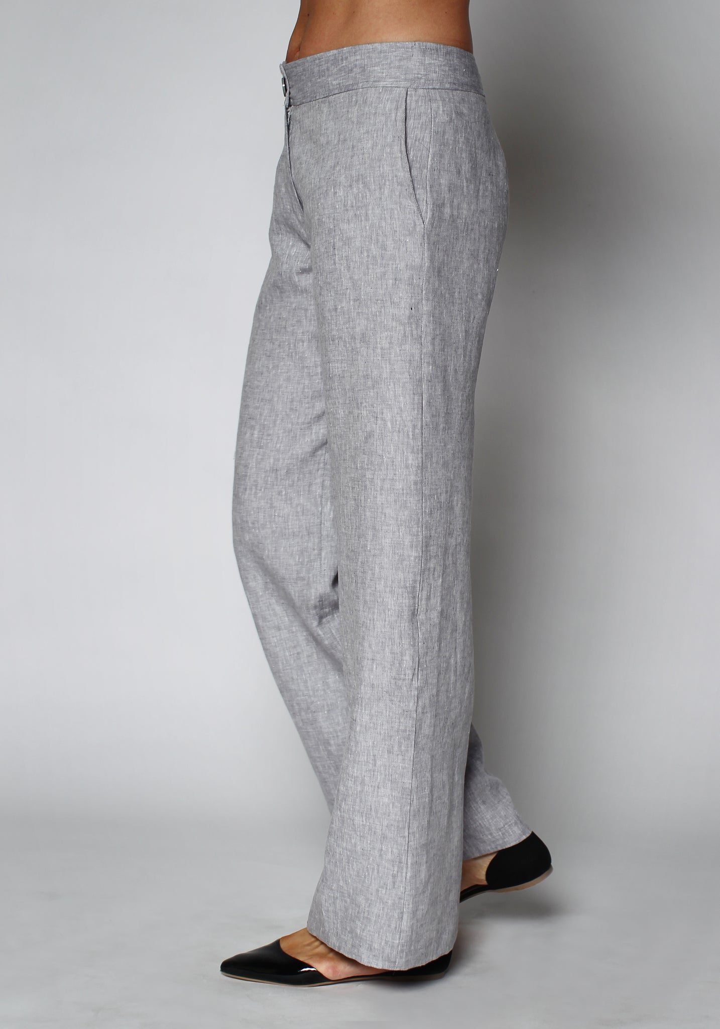 3-0419 Wide Leg Linen Pants - Ruth Tate