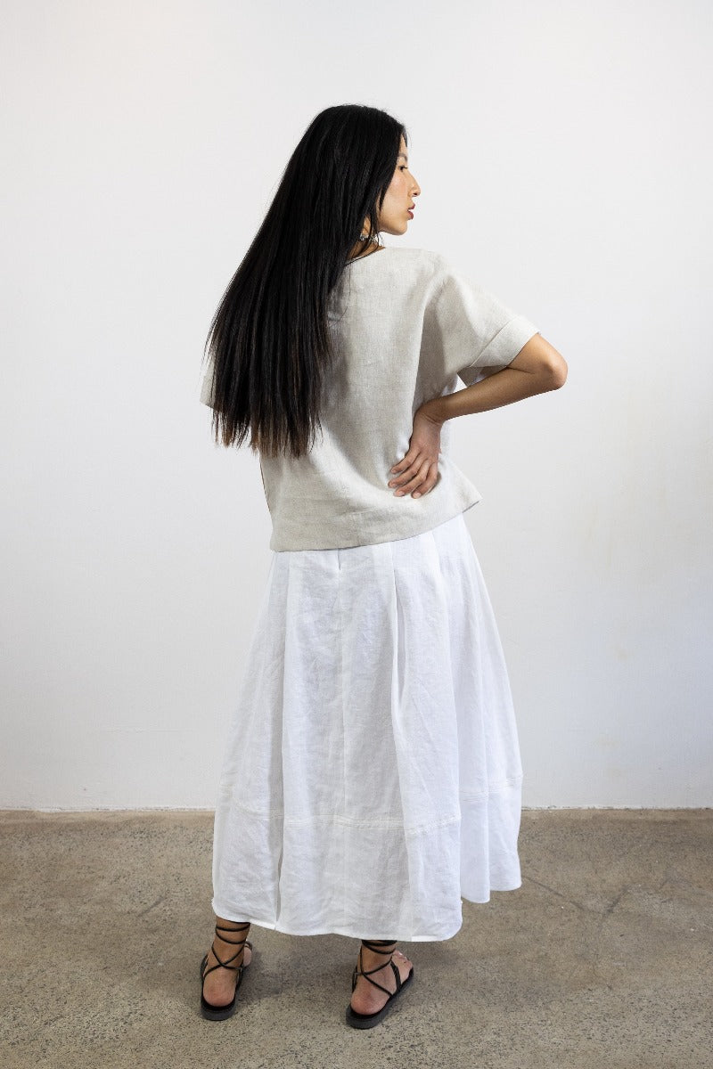 3-Kimi top-natural linen cotton