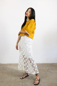 1-Crochet lace skirt