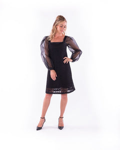 1-01209 Brigitte lace dress-with sleeves