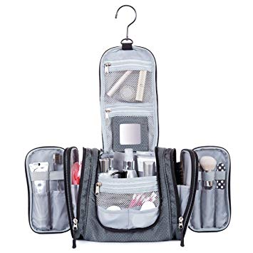 Hanging Toiletry Travel Bag by Borsali - Makeup and Toiletries Organizer for Women $36.49 USD