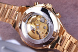Luxury Bezel Golden Watch