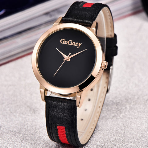 Gogoey  Luxury Leather Quartz Watch Women