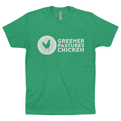 Greener Pastures Chicken Branded T-Shirt (More colors available!)