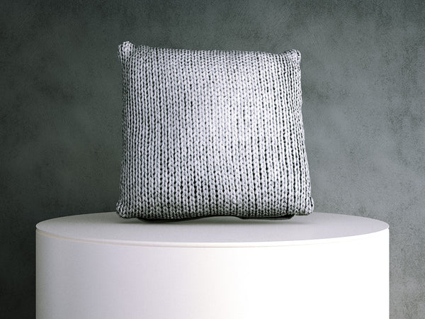 Cushion - Grey Knit