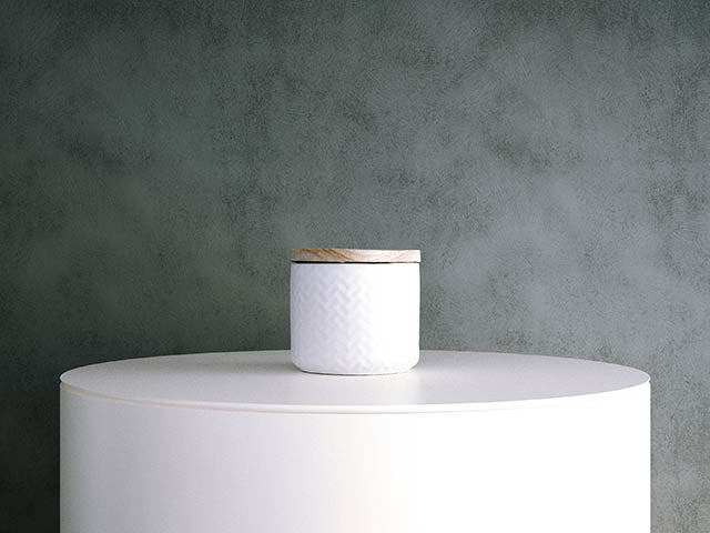 Embossed Pattern Canister