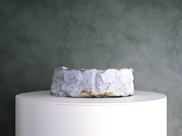 Camembert Cheese: Half Cut