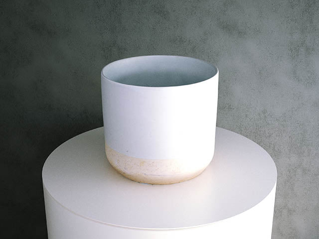 Concrete Pot - Cream two-tone