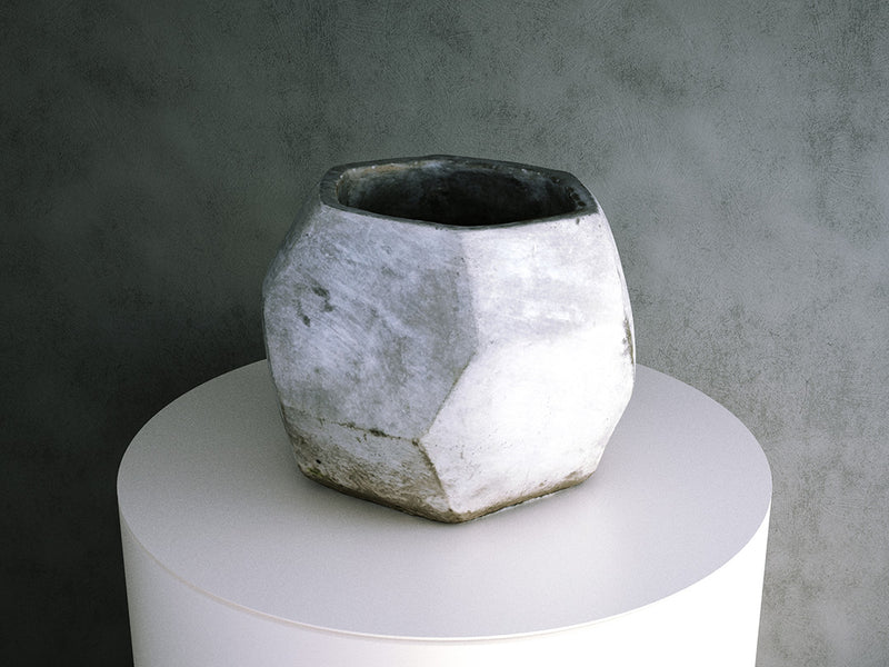 Concrete Pot - Hexagonal Geometric
