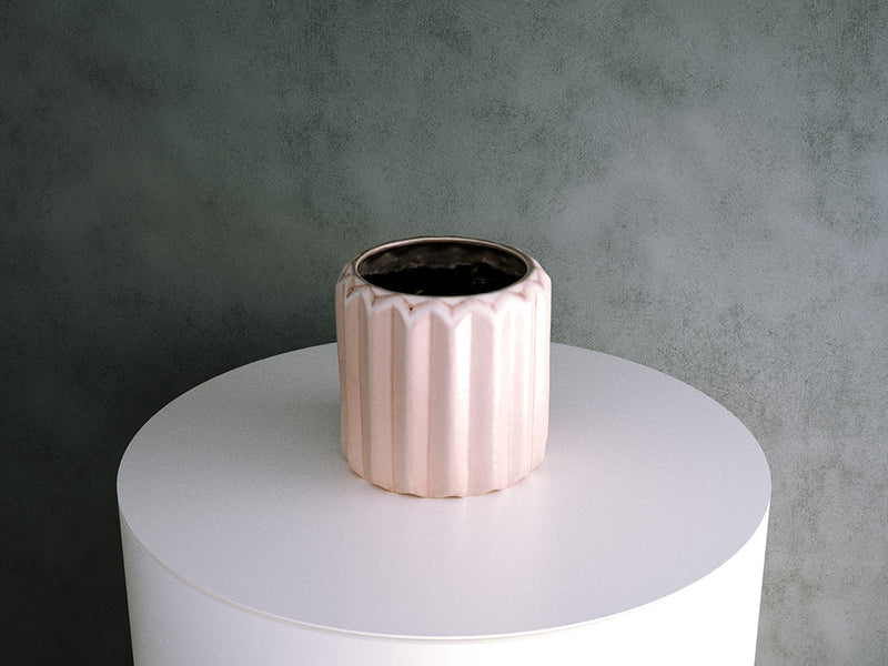Pink Tesselated Pot