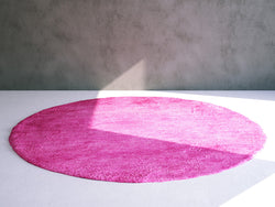 Floor Rug / Carpet: Round Wool Rug