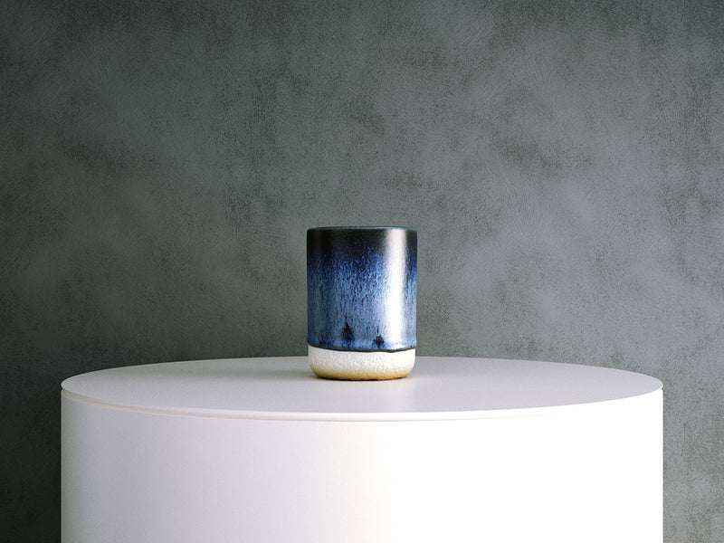 Ceramic Vase: Small Blue