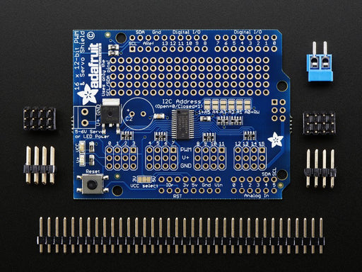 Adafruit 16-Channel 12-bit PWM/Servo Shield - I2C interface