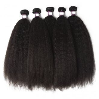 Kinky Straight Brazilian Virgin Hair Bundles