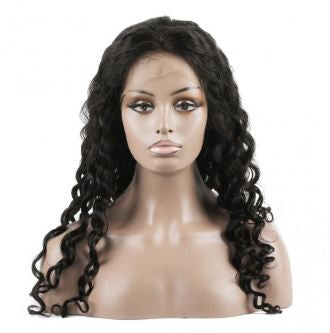Water Wave Brazilian Virgin Hair Lace Front Wig