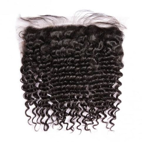 Deep Wave Brazilian Virgin Hair Lace Frontal
