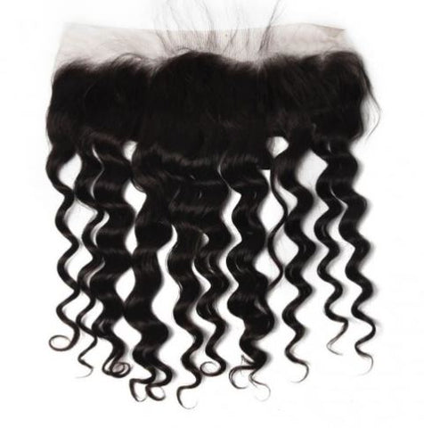 Loose Curly Brazilian Virgin Hair Lace Frontal