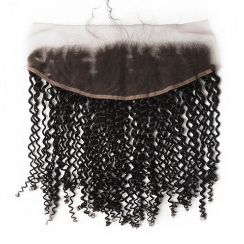 Kinky Curly Brazilian Virgin Lace Frontal