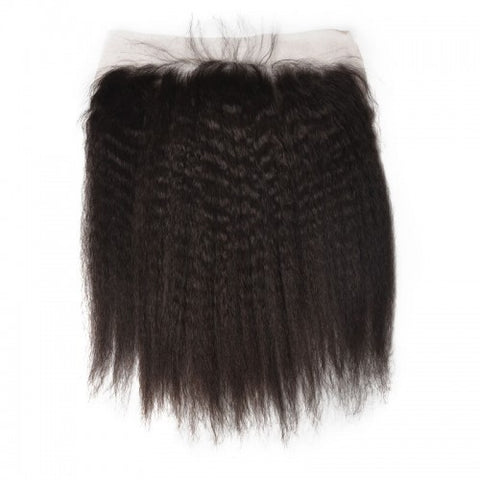 Kinky Straight Brazilian Virgin Hair Lace Frontal