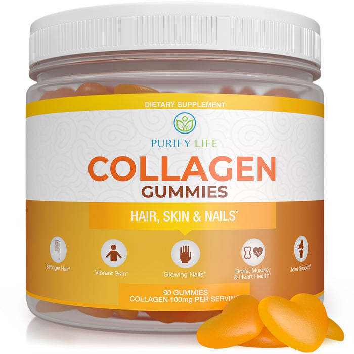 Collagen Gummies For Hair Skin & Nails - 90 Gummies/45 Day Supply