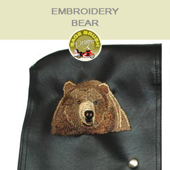Brown Bear Head Embroidery