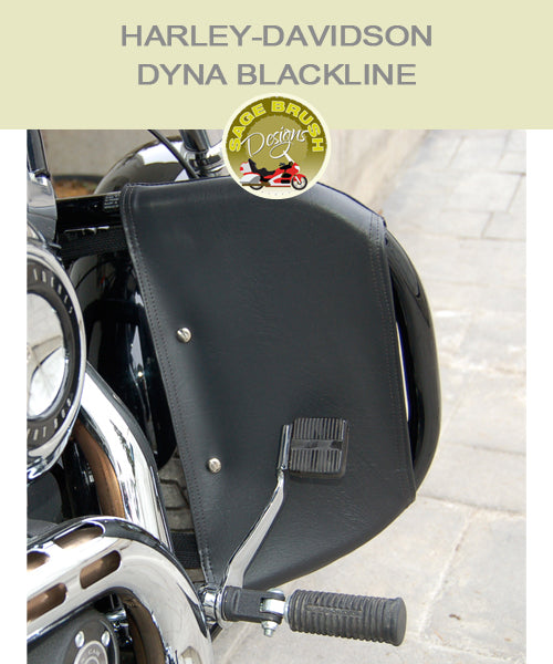 Harley-Davidson Dyna Blackline Engine Guard Chaps in black vinyl