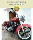 Dyna Fat Bob OEM Mustache Bar With Black Vinyl Engine Guard Chaps