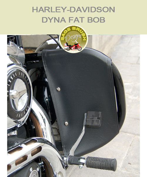 Dyna Fat Bob OEM Bar  With Black Vinyl Engine Guard Chaps