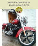 Dyna Low Rider OEM Mustache Bar with black vinyl engine guards