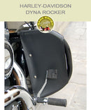 Dyna Rocker OEM bar with black vinyl engine guard chaps