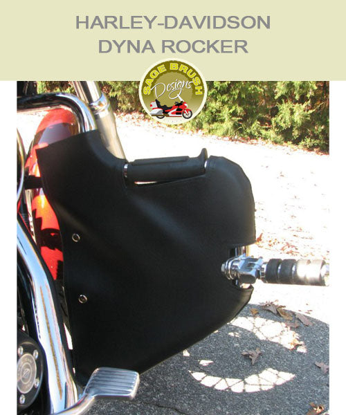 Dyna Rocker engine guard chap with cutout
