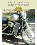 Dyna Street Bob Cobra Regular bar with black engine guard chaps