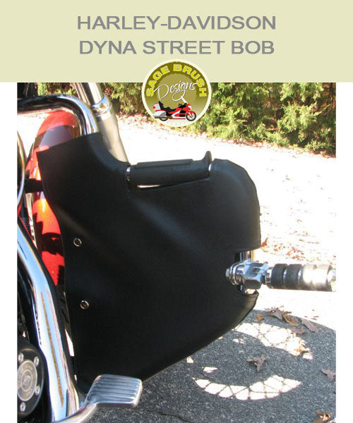 Dyna Street Bob Lindy Multibar with black vinyl engine guard chap with cutout