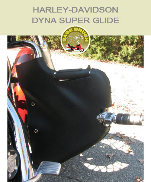 Dyna Ssuper Glide Lindy Multibar black engine guards with cutouts