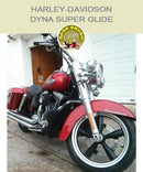 Dyna Ssuper Glide OEM Mustache bar with black engine guard chaps