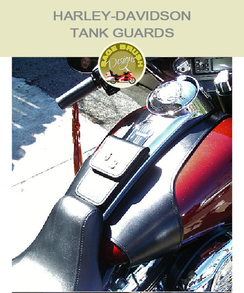 Touring: Large Whaletail Tank Guard with standard side hem and a console-mounted pocket