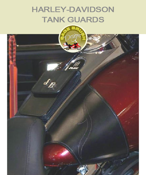 Touring: Small Whaletail Tank Guard with standard side hem and pocket