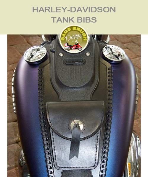 Harley-Davidson Dyna Street Bob Large Tank Bib with side lacing, a concho and pocket