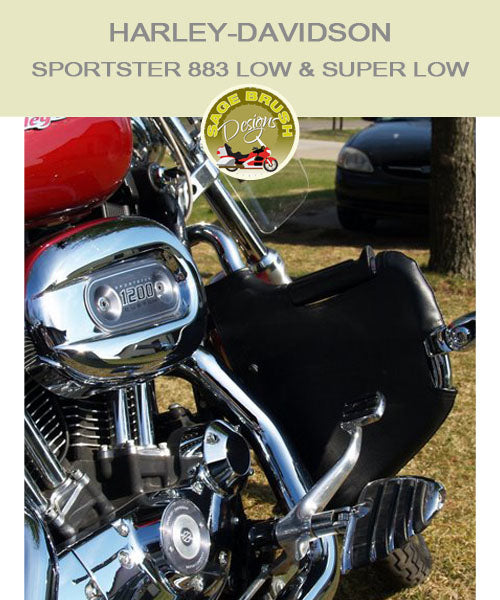 Harley-Davidson Sportster 883 Low Lindy Multibar with black engine chaps