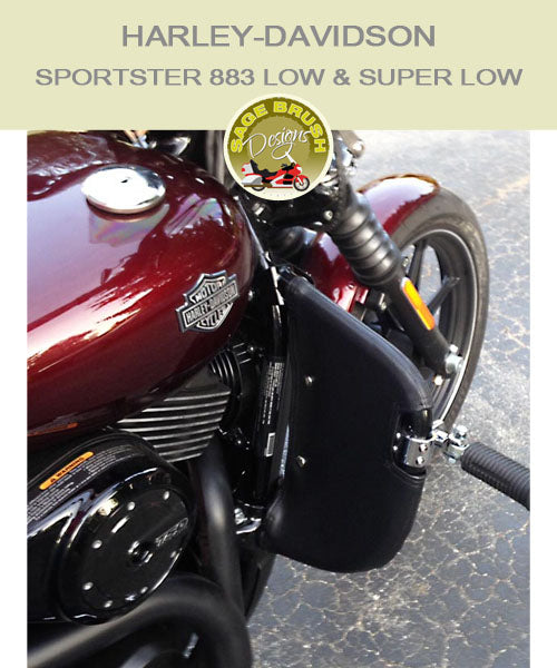 Harley-Davidson Sportster 883 Low with black engine guard chaps