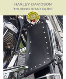 Harley-Davidson Touring Road Glide FLH with black studded engine guard chaps