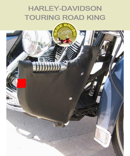 Harley-Davidson Touring Road King FLH Lindy Linbar with black engine guard chaps