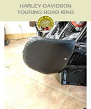 Harley-Davidson Touring Road King FLH Chopped bar with black vinyl engine guard chaps