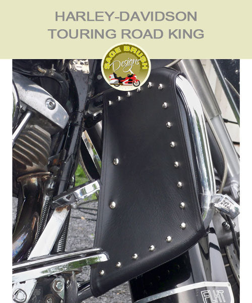 Harley-Davidson Touring Road King FLH with black studded engine guard chaps