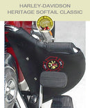 Harley-Davidson Heritage Softail Classic black engine guard chap with firefighter logo embroidery