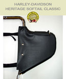 Heritage Softail Classic Lindy Multibar black engine guard chaps