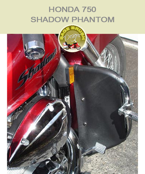 Honda 750 Shadow Phantom MCEnt 1000-04 bar with black engine guard chaps