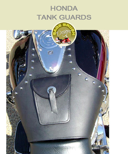 Honda Tank Guards with studs, pocket, and concho