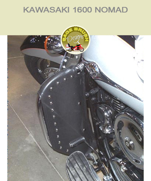 Kawasaki 1600 Nomad OEM black engine guard chaps